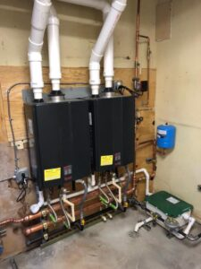 Dual on demand hot water heaters