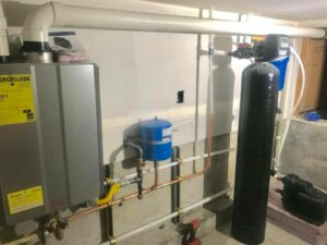 Home water filtration and on demand water heater